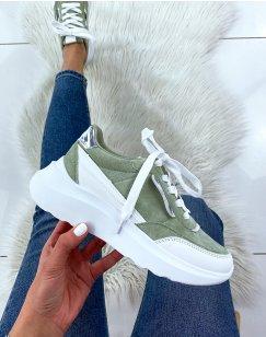 Baskets vert pastel