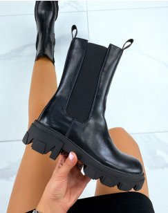 Bottines hautes noires