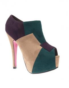 Chaussure femme Style Shoes: Escarpin multi couleur beige
