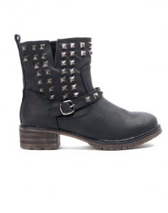Chaussures femme Sinly: Bottine clouté - Noir