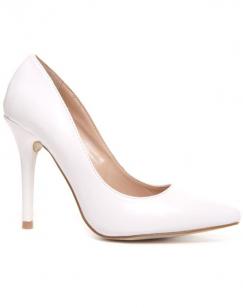 Chaussures femme Style Shoes: Escarpin blanc vernis