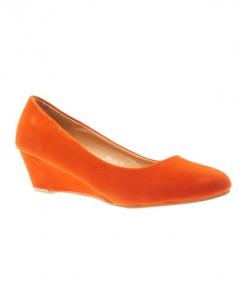 Chaussures femme Style Shoes: escarpins compensés orange