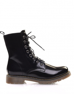 Chaussures montantes vernis noires