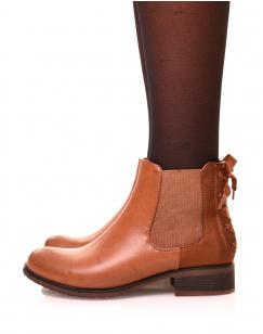 Chelsea boots camel à noeuds