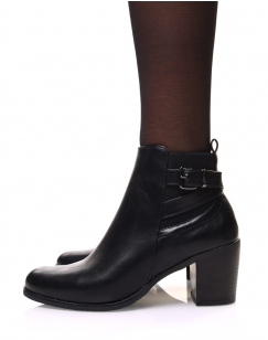 Chelsea boots noires à fines sangles