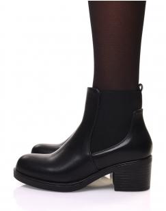 Chelsea boots noires à talon