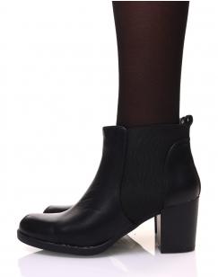Chelsea boots noirs à talon