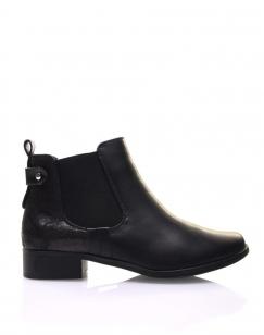Chelsea boots noirs avec empiècement pailleté