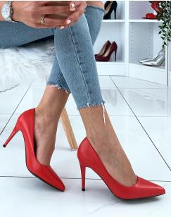 Escarpins rouge à talon aiguilles