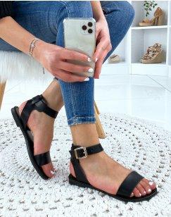 Nu-pieds à sangles épaisses noires