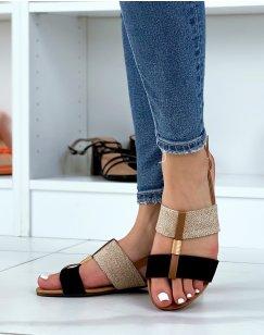 Nu-pieds noirs et en osier