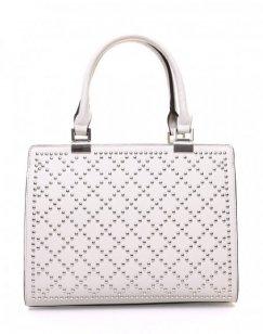 Petit sac à main gris clair clouté