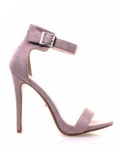 Sandales mauves en suédine à brides