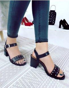 Sandales Noir à petit talon