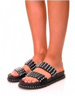 Sandales noires cloutés