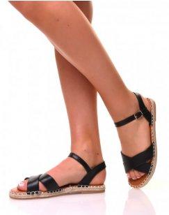 Sandales plates noires