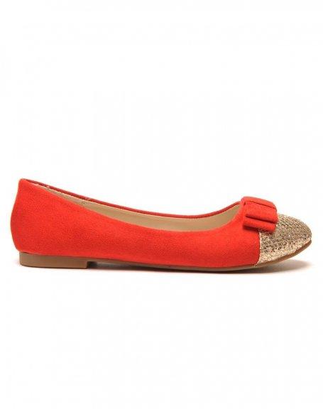 9b0525af6376b Ballerine rouge paillette chaussures ballerines toile femme   Semagroup