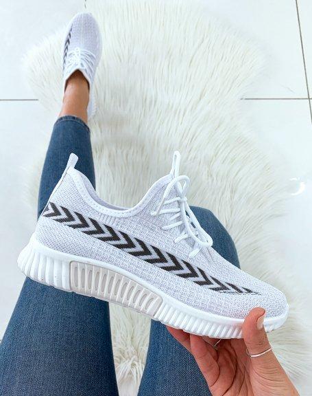 Baskets blanches respirantes et souples