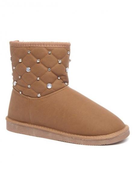 Botte camel Alicia Shoes bijoux et doublure