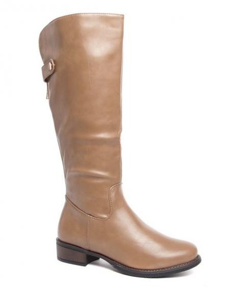 Botte montante type équitation Style Shoes taupe