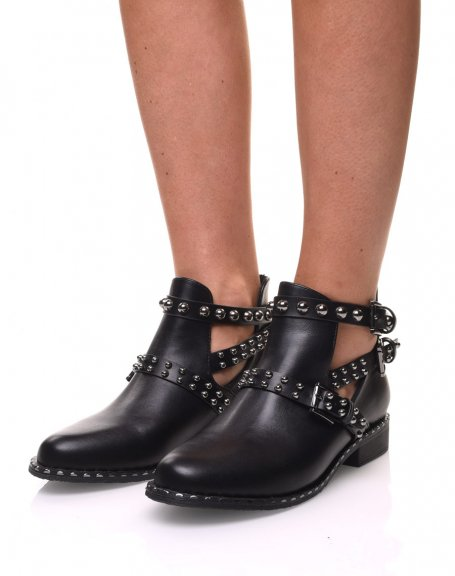Bottines cloutés noires
