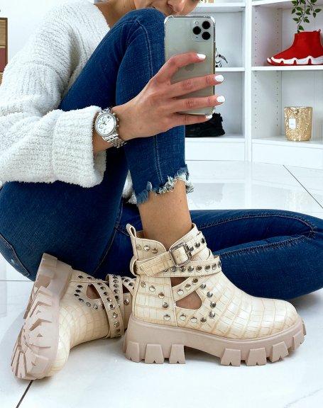 Semelles antid/érapantes Chaussures d/'hiver par Flandell Bottines pour femme Chaussures de marche chaudes et doubl/ées avec lacets