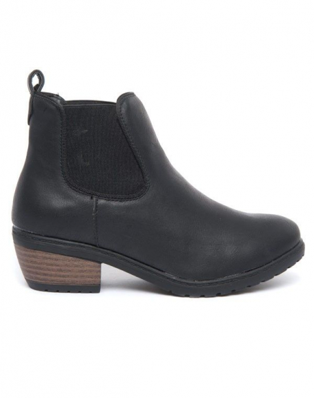 Bottines noires femme Cocoperla stretch à talons épais