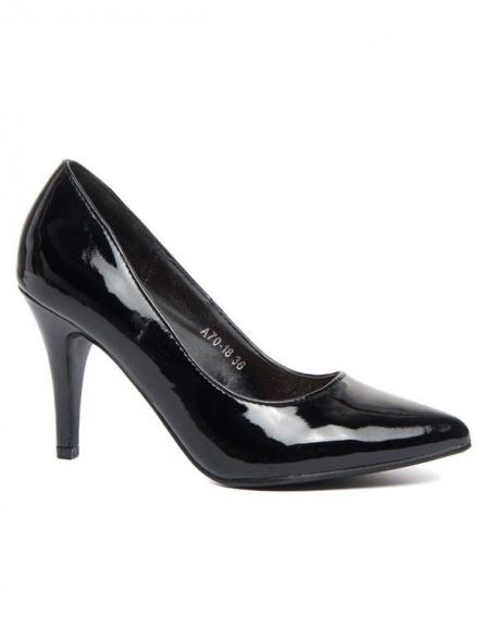 Chaussure à talon pointue Alicia Shoes vernis noire