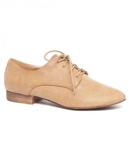 Chaussure de ville femme Ideal type derby marron