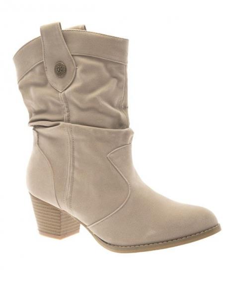 Chaussure femme Abloom: Bottes à talons abricot