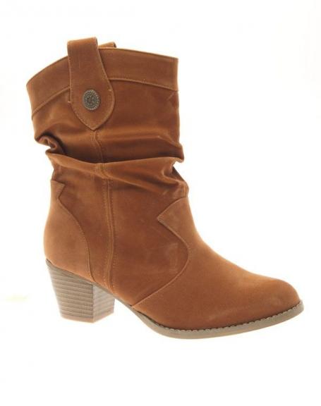 Chaussure femme Abloom: Bottes à talons camel