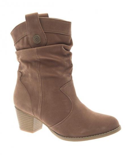Chaussure femme Abloom: Bottes à talons kaki