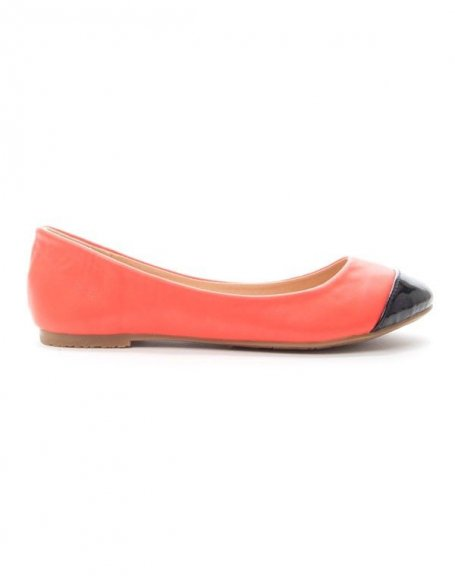 Chaussure femme Alicia: Ballerine bout vernie rouge