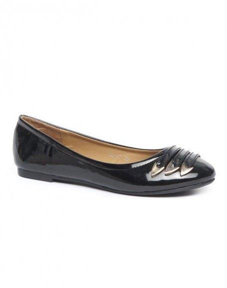 Chaussure femme Alicia: Ballerines vernies noires