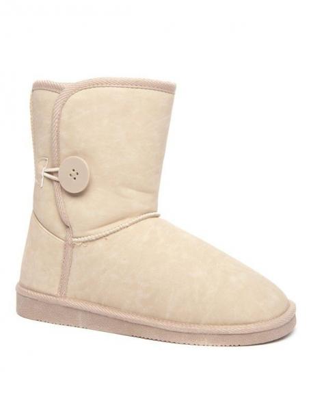 Chaussure femme Alicia: botte neige beige