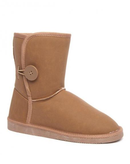 Chaussure femme Alicia: botte neige camel