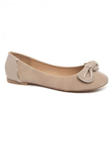 Chaussure femme Alicia Shoes: Ballerines noeud beige