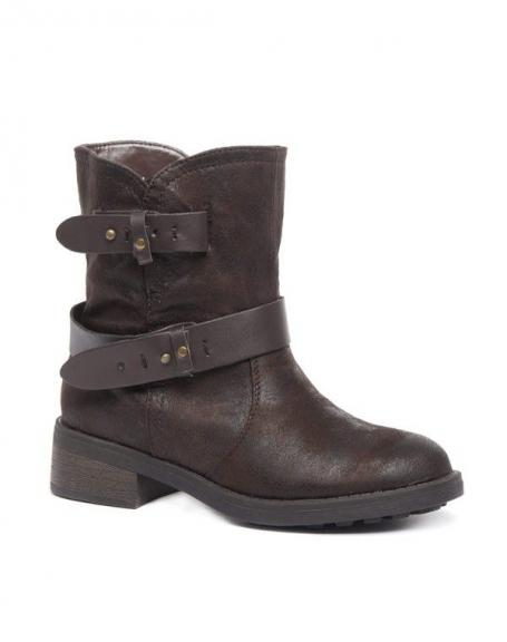 Chaussure femme Alicia Shoes: Botte marron
