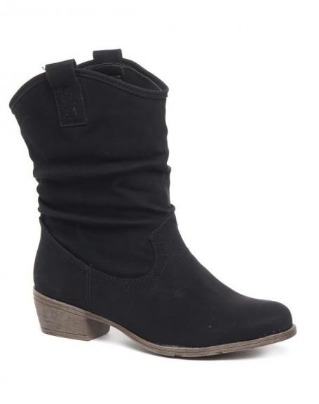 Chaussure femme Alicia Shoes: Bottes souples noire