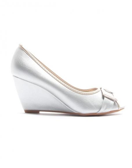 Chaussure femme Alicia Shoes: Escarpin compensé - argent