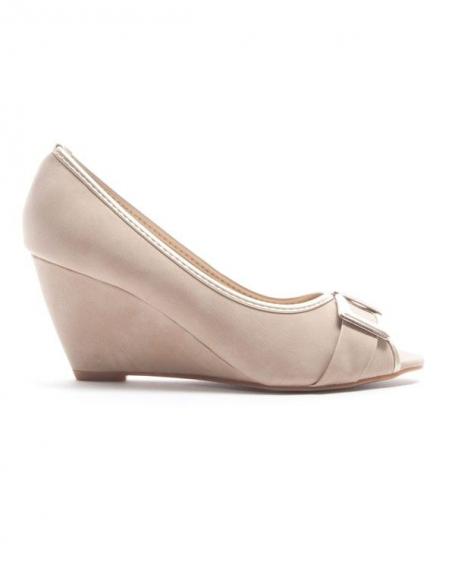 Chaussure femme Alicia Shoes: Escarpin compensé - kaki