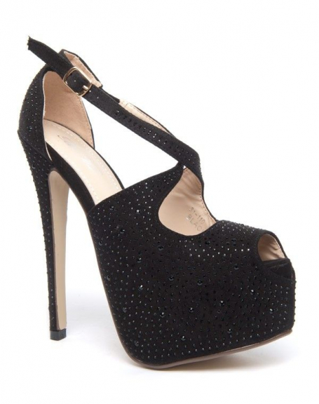 Chaussure femme Bai Wei: Escarpins ouvertes noires