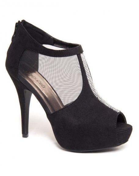 Chaussure femme Beauty Girl's: Bottines noires à talon à résine
