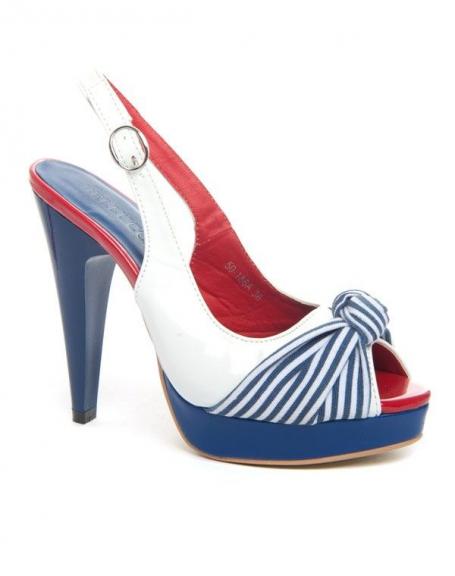 Chaussures Marinière Glamour Femme - Bleu - M (38-39) 4GBoCQ
