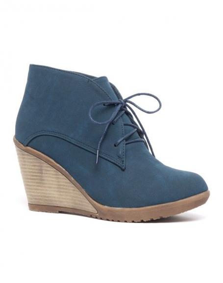 Chaussure femme Bellucci: Derbies compensés bleu