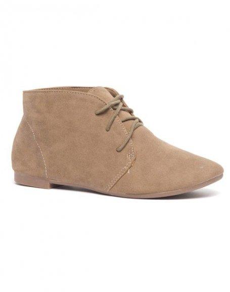 Chaussure femme Bellucci: Derbies kakis