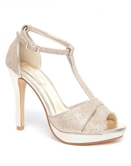 Chaussure femme Bellucci: Escarpin champagne ouvert