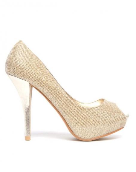 Chaussure femme Bellucci: Escarpins dorés pailleté