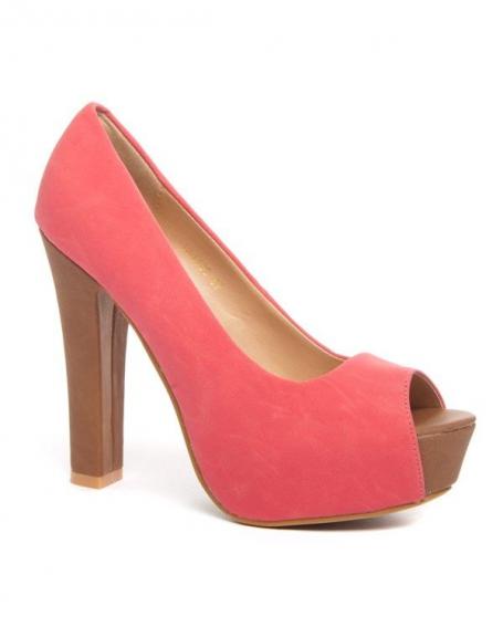 Chaussure femme Bellucci: Escarpins ouverts corail