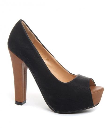 Chaussure femme Bellucci: Escarpins ouverts noir